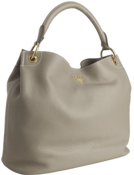 Prada Clay Deerskin Large Hobo in Brown (clay) - Lyst