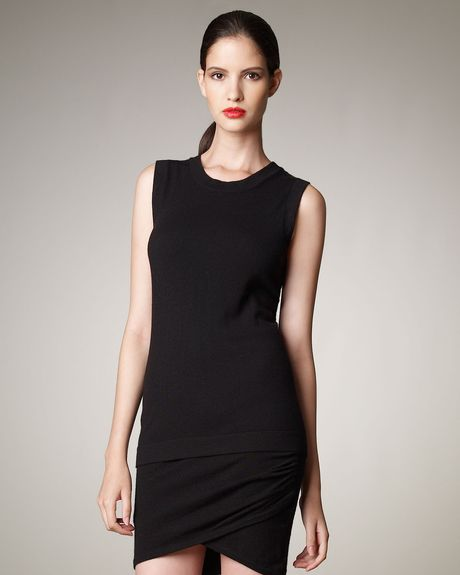 Donna Karan New York Sleeveless Cashmere Top, Black in Black - Lyst