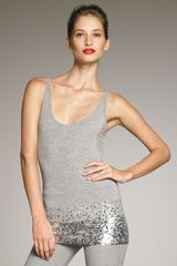 Donna Karan New York Sequin-trim Jersey Tank - Lyst