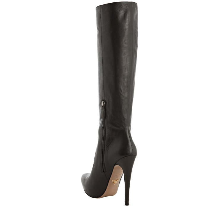 Pradapointed toe tall boots