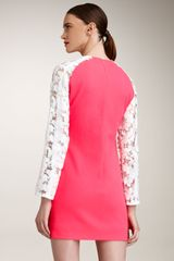 Christopher Kane Lacesleeve Dress in Pink - Lyst