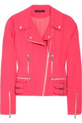 Christopher Kane Wool-blend Crepe Biker Jacket