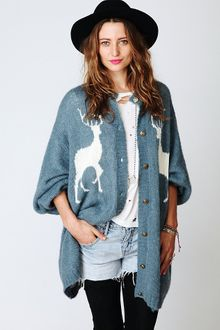 Free People Reindeer Cardigan - Lyst