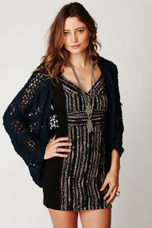 Free People Crochet Bubble Hem Cardi - Lyst