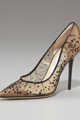 Jimmy Choo Crystal-beaded Mesh Pump - Lyst