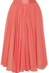 See By Chloé Cotton and Silk-blend Georgette Midi Skirt - Lyst