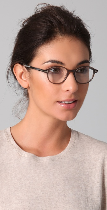 Tom Ford Round Glasses In Gray Lyst
