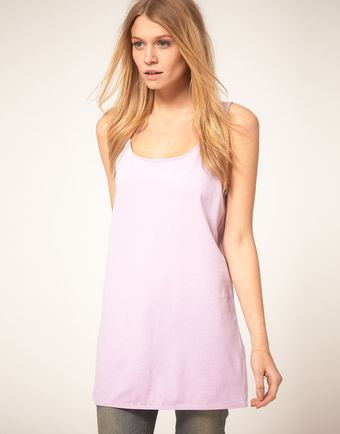 Asos Vest Tunic with Scooped Out Back - Lyst