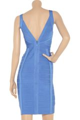 Hervé Léger Bandage Dress in Blue - Lyst