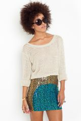 Nasty Gal Sunset Sequin Skirt - Lyst