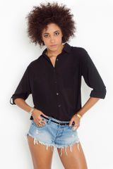 Nasty Gal Tied Up Blouse - Black