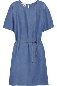 Acne Moreau Chambray Dress - Lyst