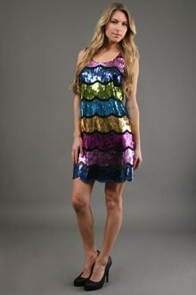 Alexia Admor Multi Colored Sequin Dress  - Lyst