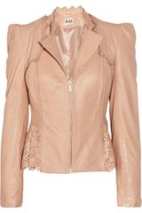 Alice By Temperley Libre Lasercut Leather Jacket in Pink (blush) - Lyst