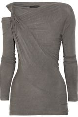 Donna Karan New York Twisted Stretch-jersey Top - Lyst