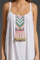 Mara Hoffman Embroidered Peasant Dress in White - Lyst