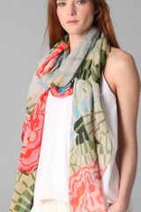 Thakoon Addition Cabbage Rose Scarf - Lyst