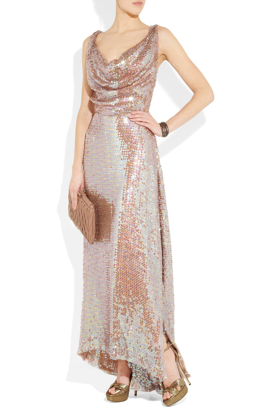lyst   vivienne westwood gold label long savannah sequined