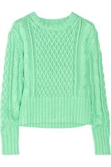 Acne Lia Cable-knit Cotton Sweater - Lyst