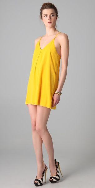 Alice + Olivia Fierra Dress in Yellow - Lyst