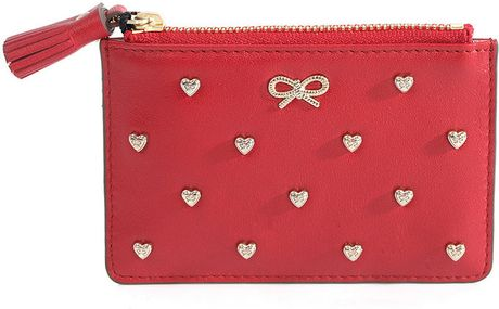 Anya Hindmarch Flyde Coin Pouch in Red - Lyst
