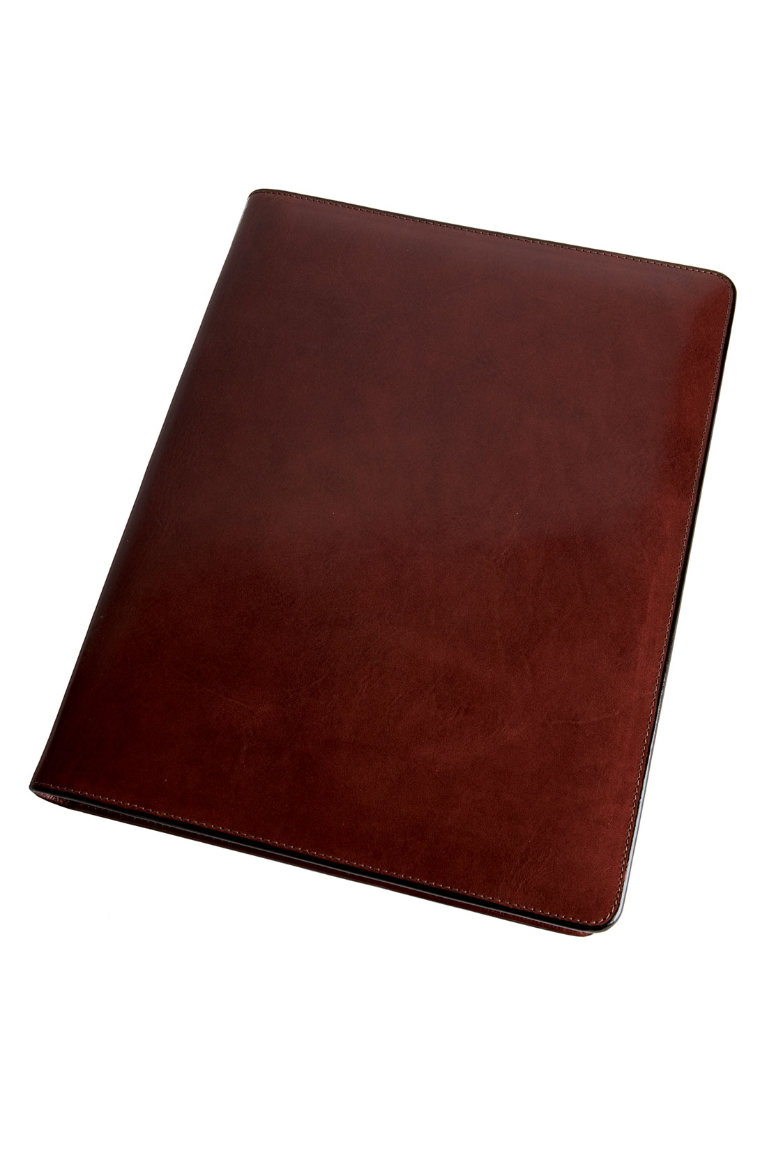 bosca leather letter pad cover in brown for men brown old With leather letter pad