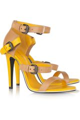 Bottega Veneta Two-tone Leather Sandals - Lyst