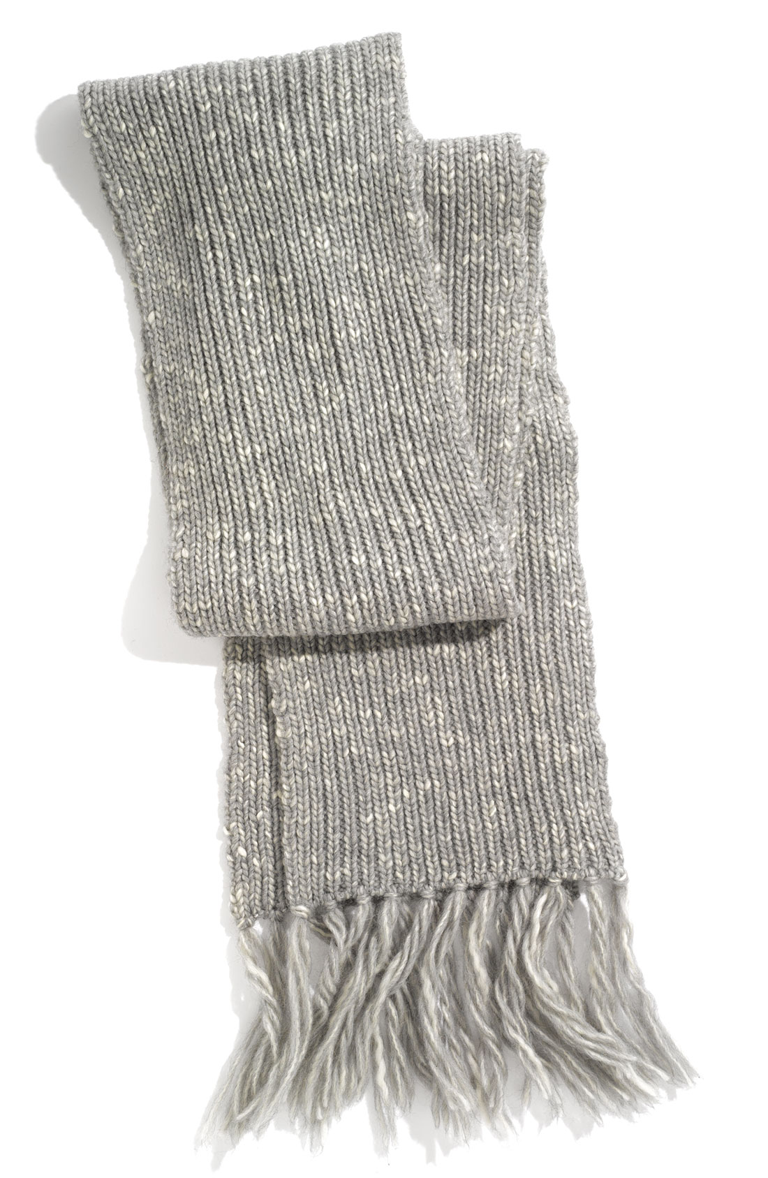 John Varvatos Marled Rib Knit Yarn Scarf in Gray for Men (elephant ...