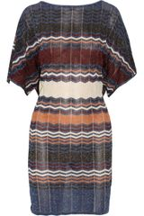 M Missoni Zigzag-patterned Knit Dress - Lyst