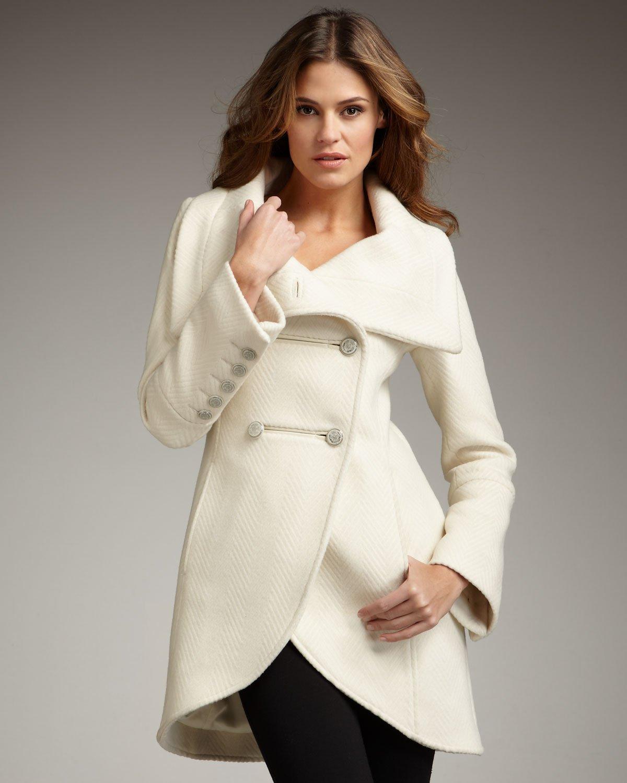 Mackage Diana Wool Coat in White | Lyst