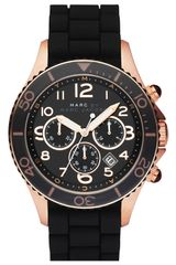Marc By Marc Jacobs Rock Large Chronograph Silicone Watch - Lyst