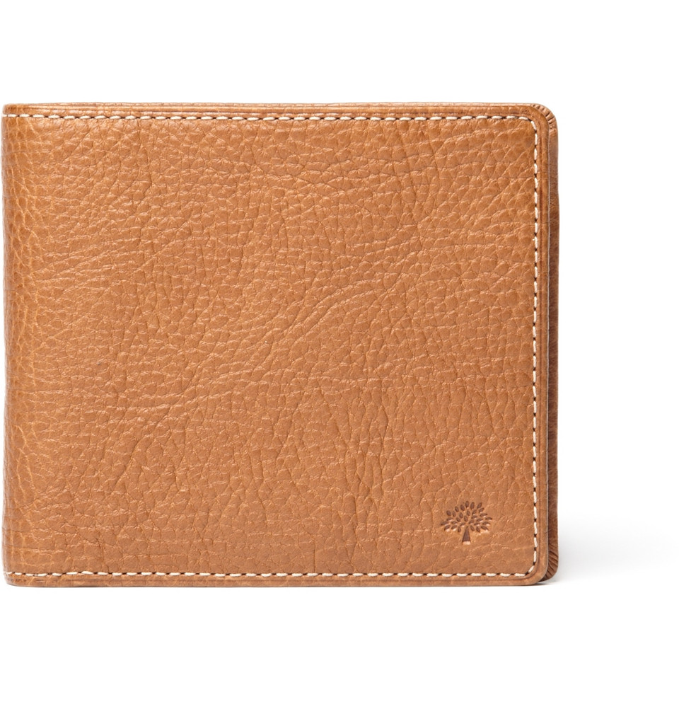 Mulberry Leather Billfold And Coin Wallet In Brown For Men