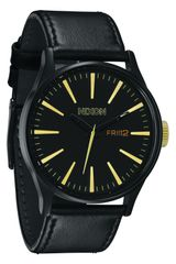 Nixon The Sentry Leather Strap Watch - Lyst
