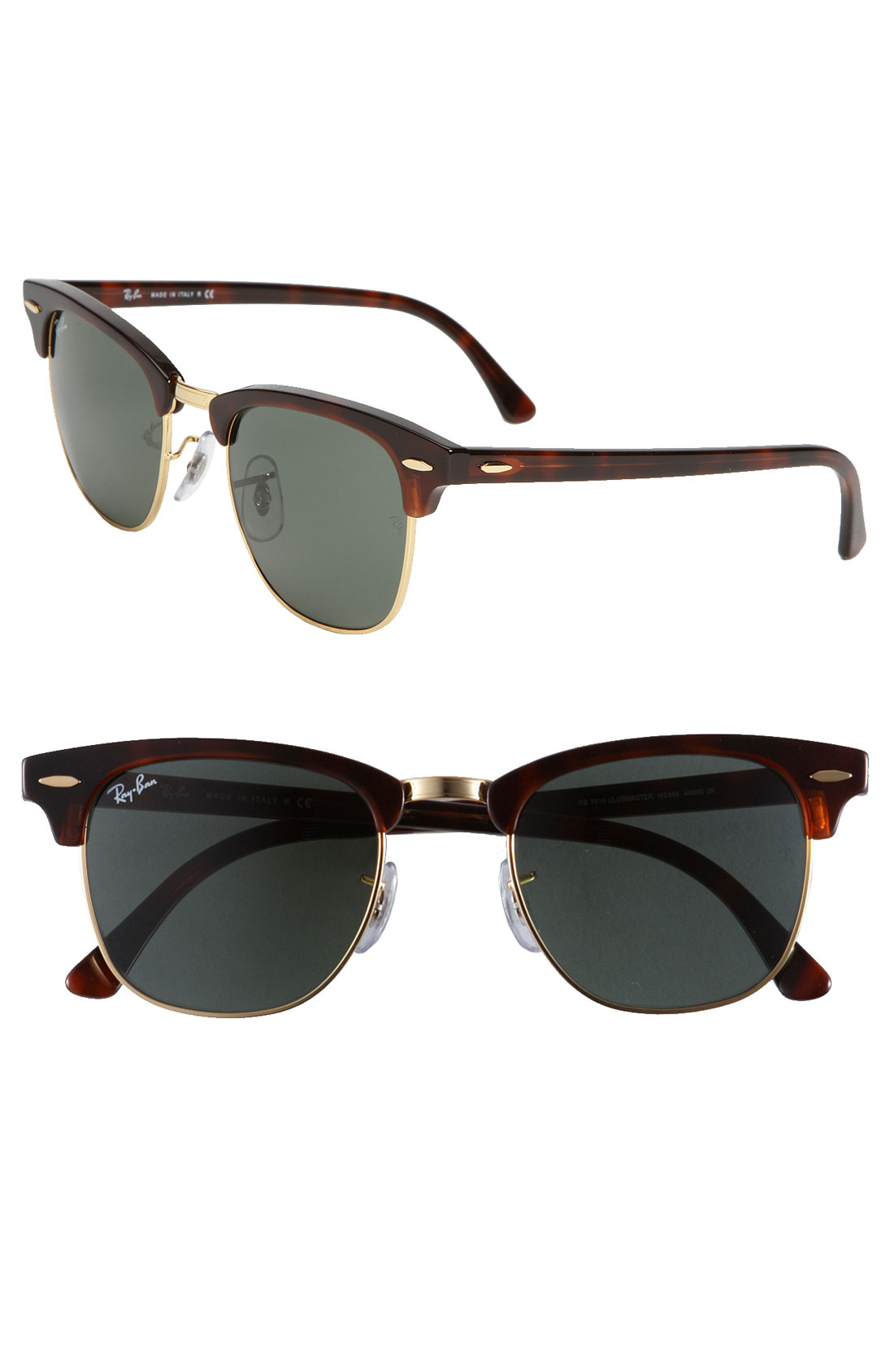 Ray Ban Classic Clubmaster 51mm Sunglasses In Brown For