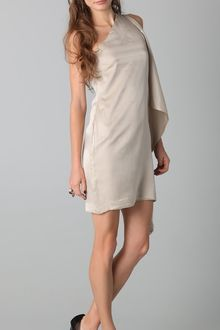 Robert Rodriguez Asymmetrical Sleeve Slim Dress - Lyst