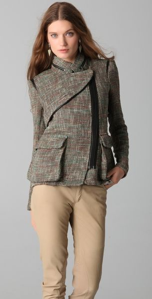 Yigal Azrouël Tweed Jacket in Gray (multi)