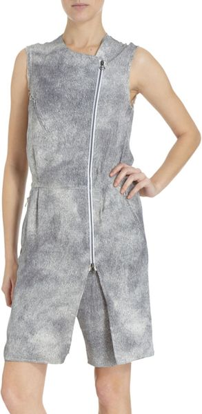3.1 Phillip Lim Biker Romper in Gray (grey)