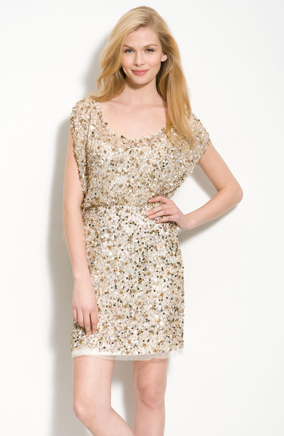 Aidan Mattox Embellished Mesh Blouson Gown ✓ Labzada Blouse