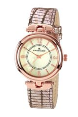 Ak Anne Klein Round Case with Patterned Strap Watch - Lyst