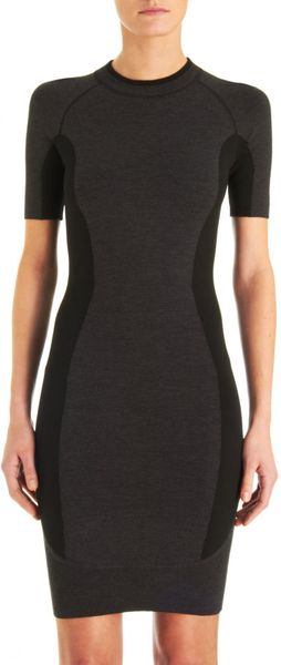 Alexander Wang Color Block Dress in Gray (charcoal) - Lyst