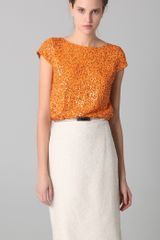 Alice + Olivia Sariat Sequined Crop Top - Lyst