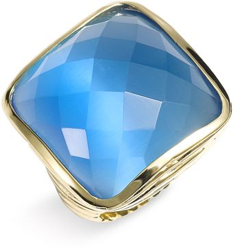 Ariella Collection Faceted Square Ring - Lyst