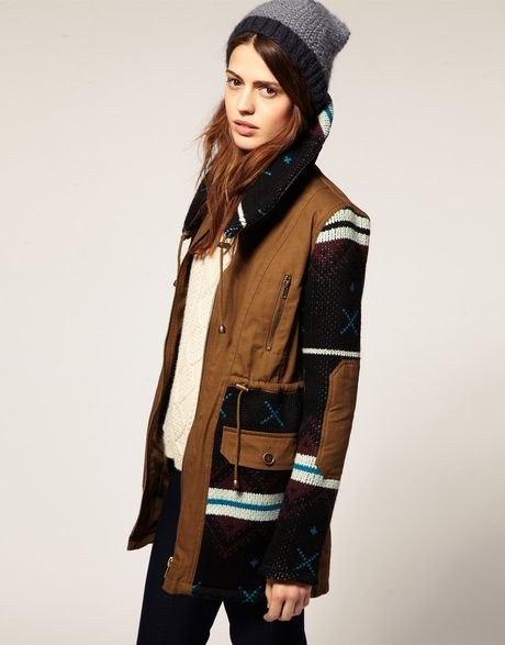 Navajo Clothing Patterns http://www.lyst.com/clothing/asos-collection-khaki-asos-navajo-pattern-parka/