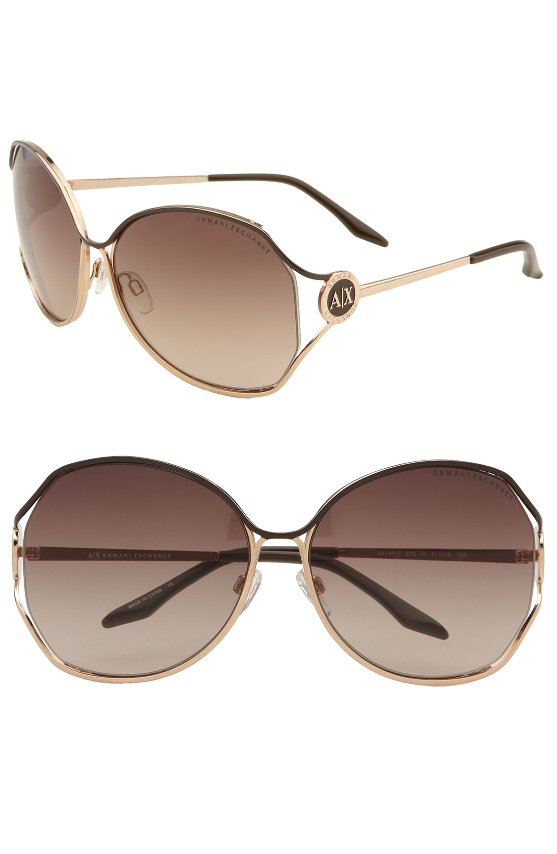 e9a1f9121a0 Armani Exchange Ax 150 S Aviator Sunglasses