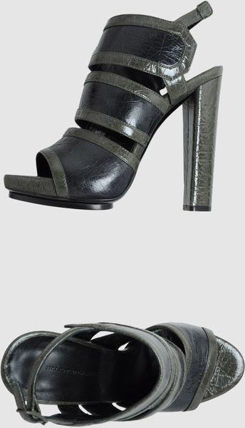 Balenciaga Platform Sandals in Black (blue) - Lyst
