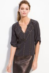 BCBGMAXAZRIA Mindy Embellished Top - Lyst