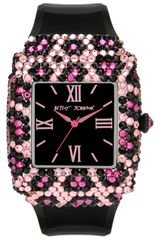 Betsey Johnson Bling Bling Time Patent Leather Strap Watch - Lyst