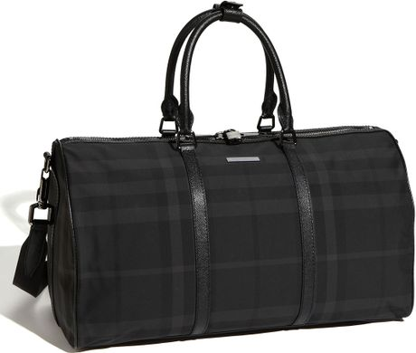Burberry Duffle Bag in Black for Men - Lyst