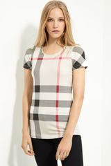 Burberry Brit Check Print Top - Lyst