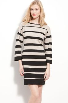 Black Sweater Dress on Milly Alina Sweater Dress In Khaki   Lyst
